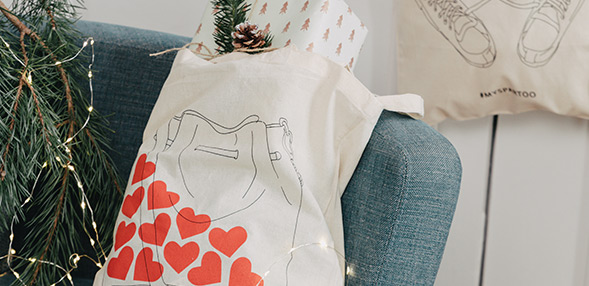 Get one of our trendy tote bags!